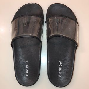 Black and Clear Pool Slides (6)
